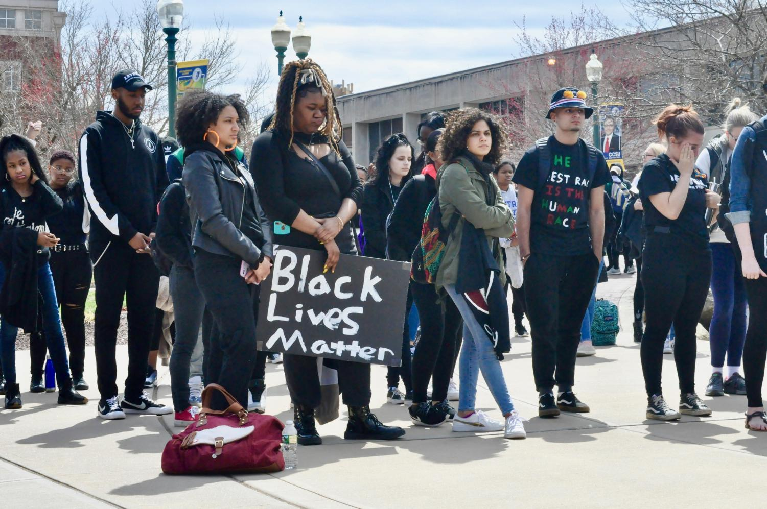 The+rally+was+in+response+to+anti-gay+pamphlets+and+racist+graffiti+that+appeared+on+campus.+The+Recorder+gave+room+for+all+the+voices+but+made+some+wording+less+discernible.+