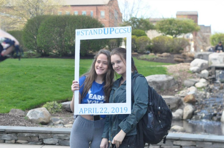 Students united to take a stand against sexual assault at Stand Up Day.