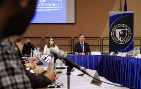 Lamont Talks Textbook Tax, Tuition At CCSU