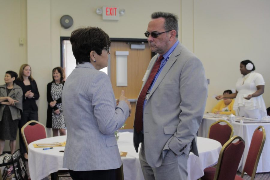 CCSU President Dr. Zulma Toro was honored at the ceremony.