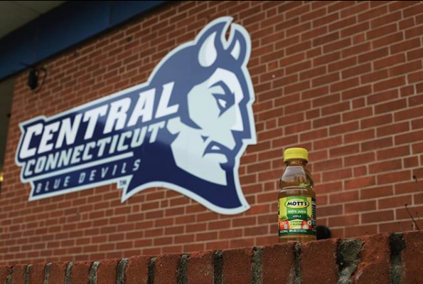 The CCSU apple juice took a trip up to Kaiser Hall back in March.