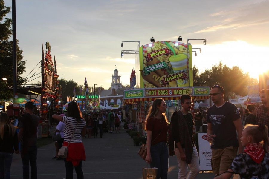Patrons of The Big E enjoyed nachos, corn dogs and lemonade as they walked through the fair.