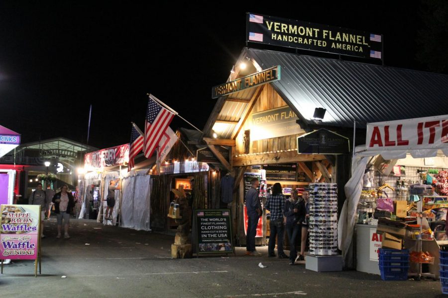 The sun quickly set over all of the vendors at The Big E, including Vermont Flannel.