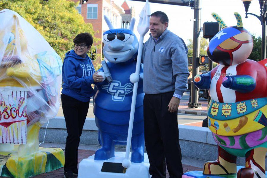 CCSU president Zulma R. Toro poses with Pedro Valentin's