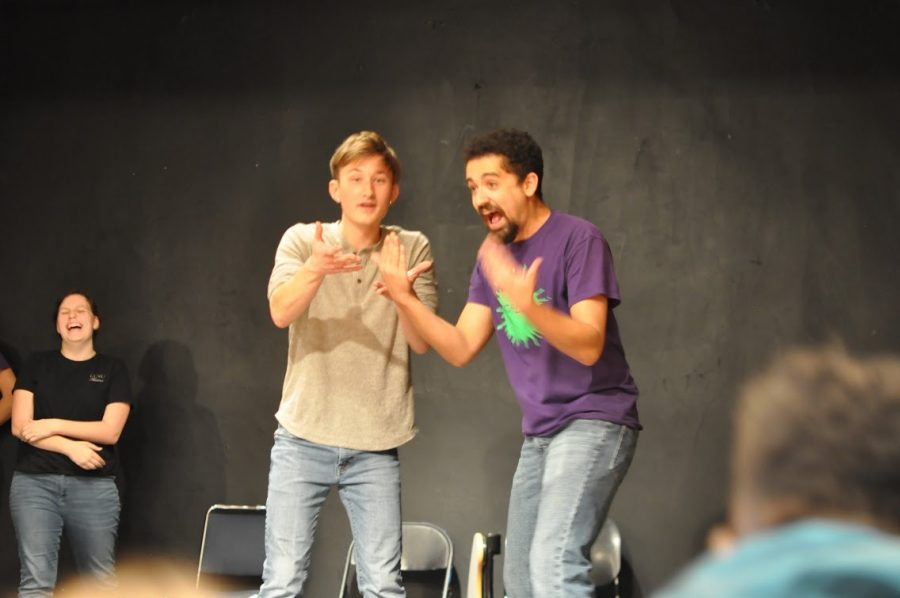 The Schlock actors got into a heated exchange during a skit called