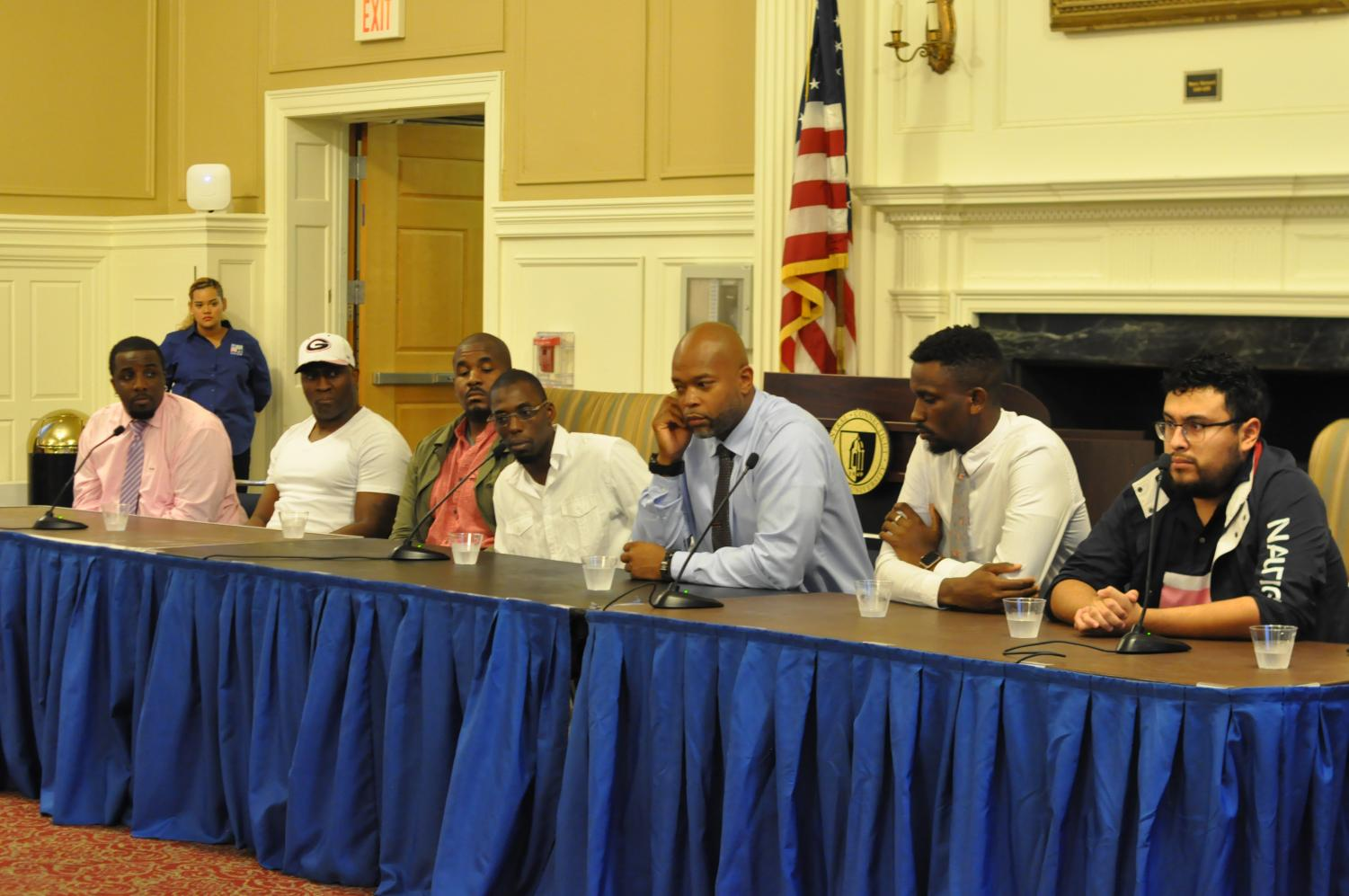 The panel of men emphasized that change begins with helping younger generations.