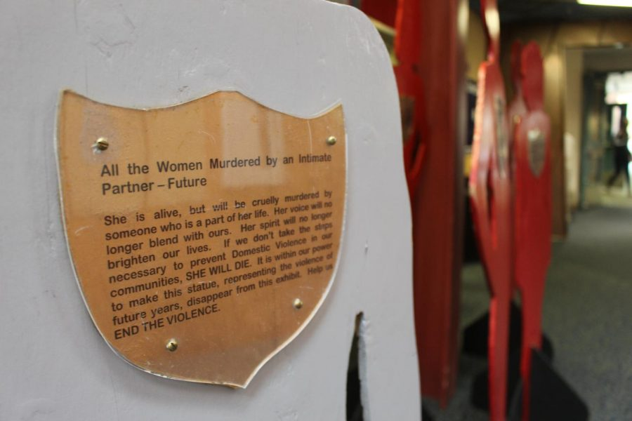 The Silent Witness exhibit in the Student Center aims to bring light to domestic violence.