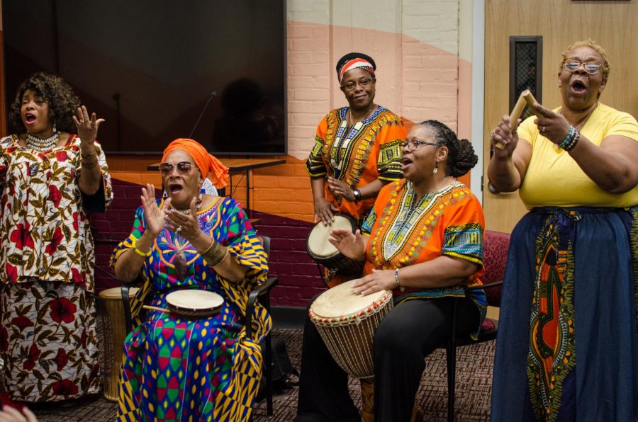 Music+by+Nzinga%27s+Daughters+was+part+of+the+ceremony+in+the+new+Center+for+Africana+Studies.
