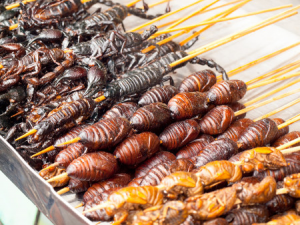 Insects can be found in a lot of different foods and cooked in many ways.