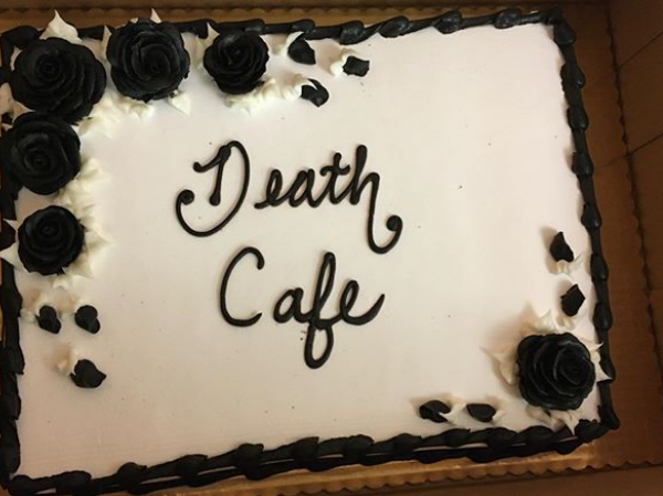 To lighten the dreary mood that comes with talking about death, a cake was provided.
