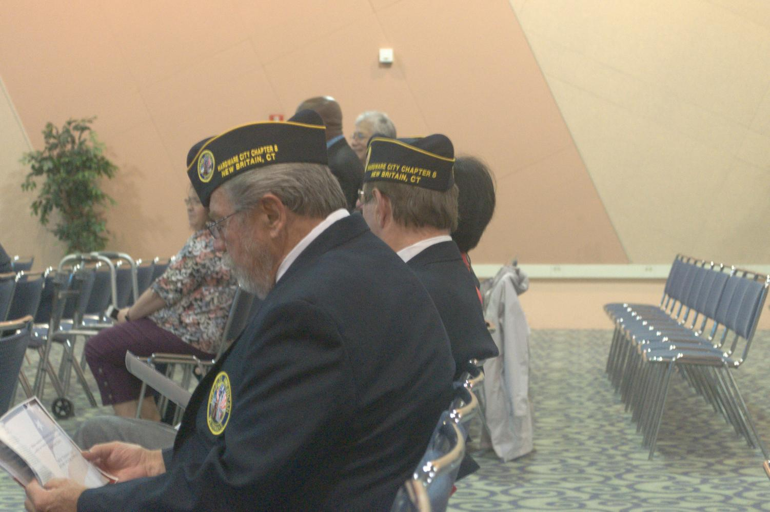 Local veterans and service members honored those