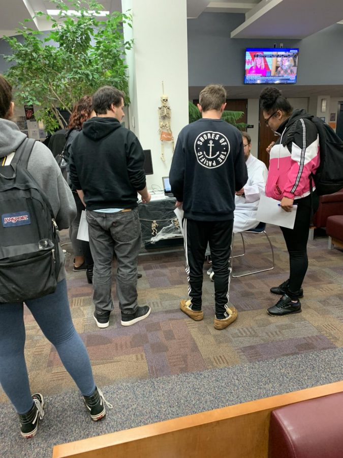 Students learn about the e-resource ReffWorks.