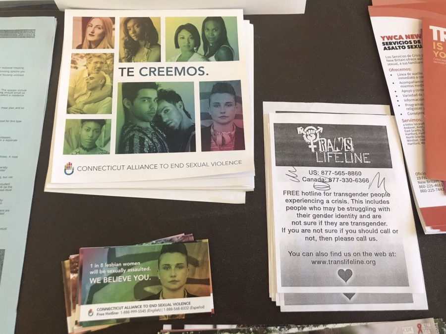 The LGBTQ Center offered useful flyers at Queer Coffee and Donuts.