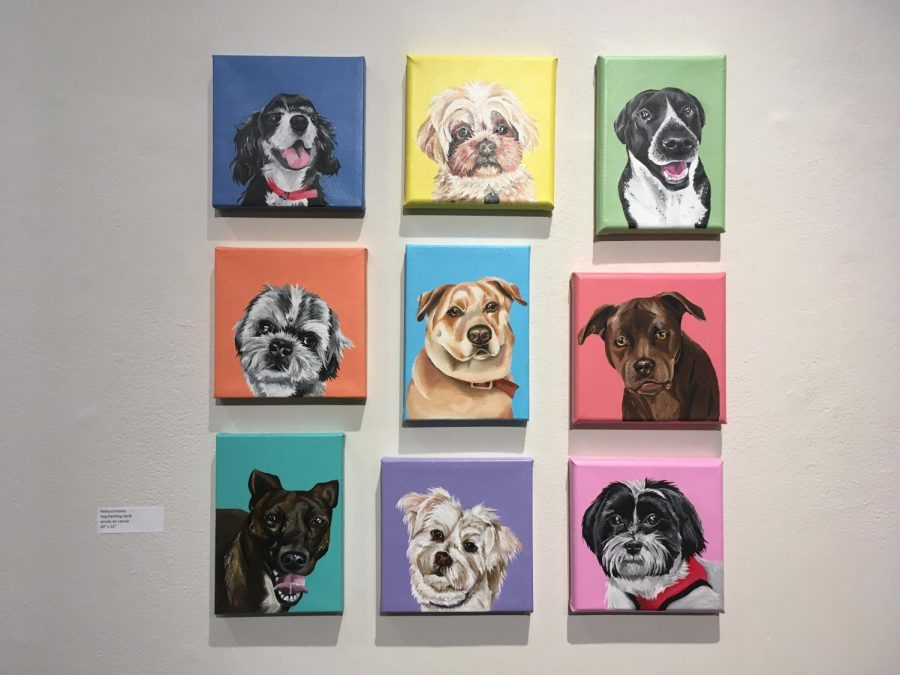Rebecca Koonz submitted her Dog Painting Series into the gallery.