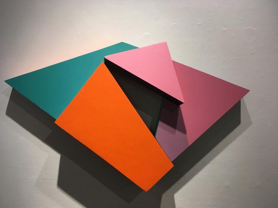Ryan Kings untitled acrylic and wood piece.
