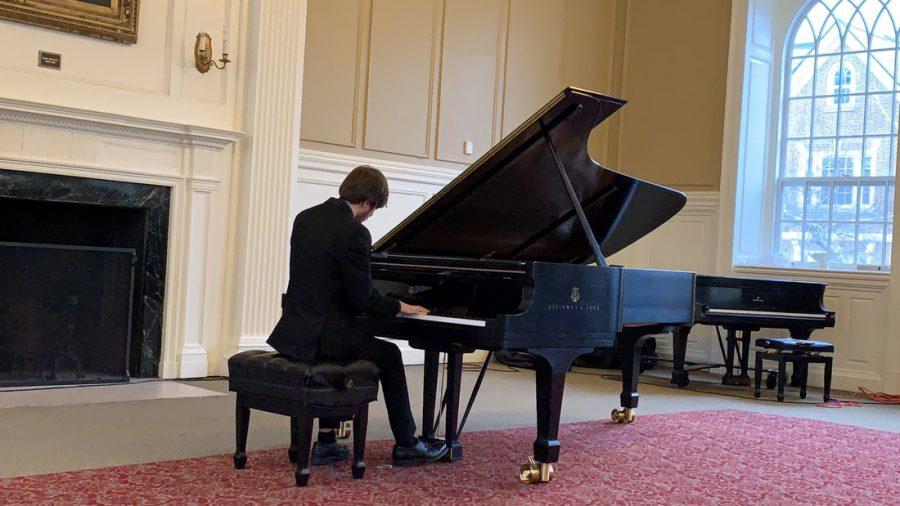 Sophomore and Piano Performance Major Ryan DeLayo performing