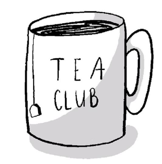 The classic logo of the Tea Club.