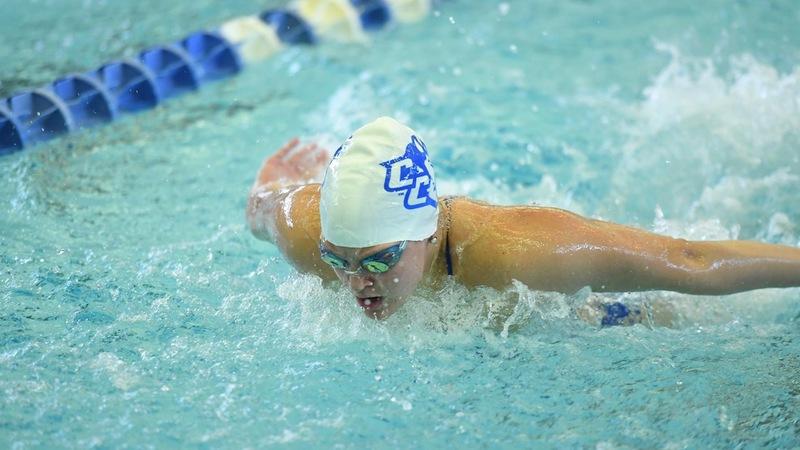 Alex Lindgren wins two events as CCSU falls to Northwestern 184-105