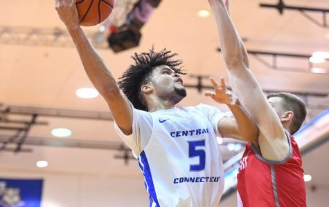 CCSU basketball secured their first winning streak when they defeated Fairleigh Dickinson 76-75.