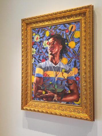 """Portrait of Toks Adewetan (The King of Glory),"" is on display at the Wadsworth Atheneum in Hartford."