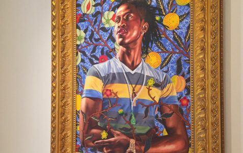 """""""Portrait of Toks Adewetan (The King of Glory),"""" is on display at the Wadsworth Atheneum in Hartford."""