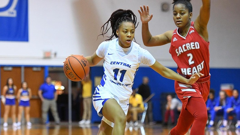 Dejah Jenkins posted six points in the loss against Merrimack.