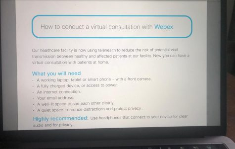 WebEx has provided health care workers a list of instructions on how to conduct a virtual session.