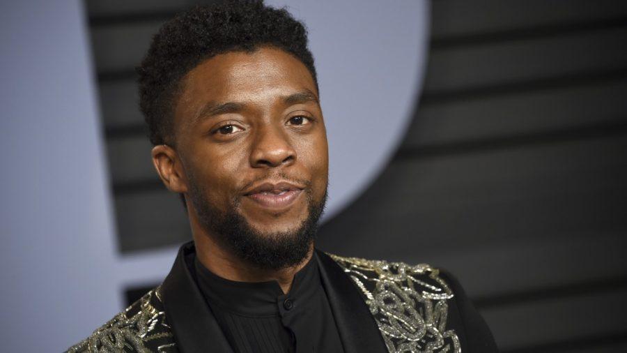 Chadwick Boseman at the Vanity Fair Oscar Party.