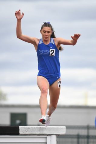 Angie Rafter (above) won gold in the 3000 meter steeplechase event.